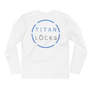 Titan Locks Long Sleeve Fitted Crew Blue Design