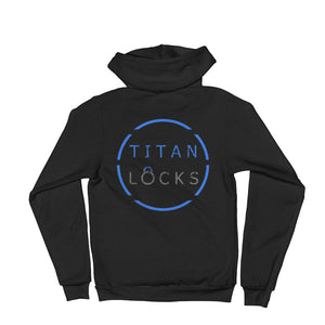 Titan Locks Zip-Up Hoodie Blue Design