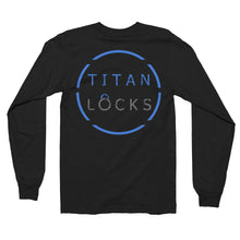 Titan Locks Unisex Long Sleeve T-Shirt Blue Design
