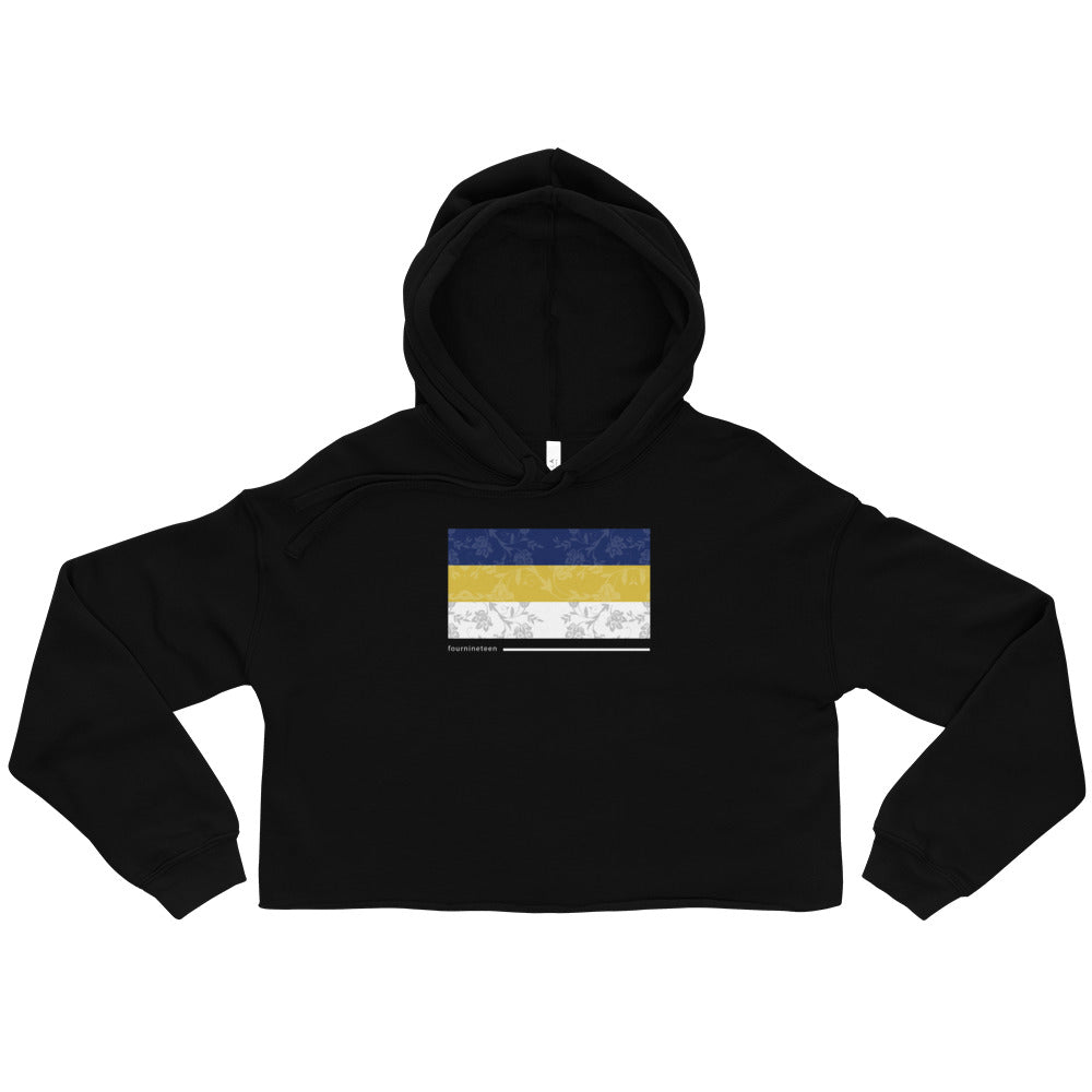 Fourninteen Flag Crop Hoodie