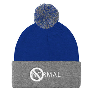 No Normal Pom Pom Knit Cap