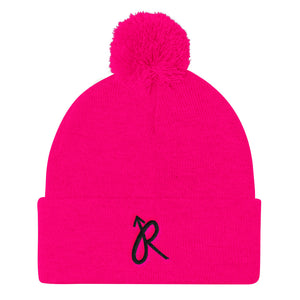 Flying R Pom Pom Knit Cap
