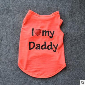 I Love Daddy and Mommy Shirt - Pet Bargain Supplies