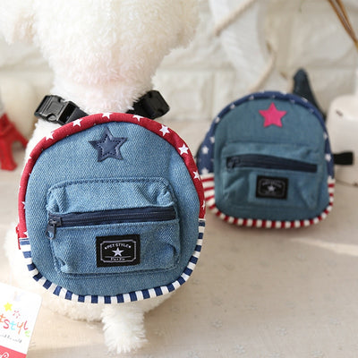 Denim Style Dog Backpack