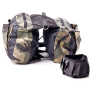 Camouflage Saddle Dog Backpack