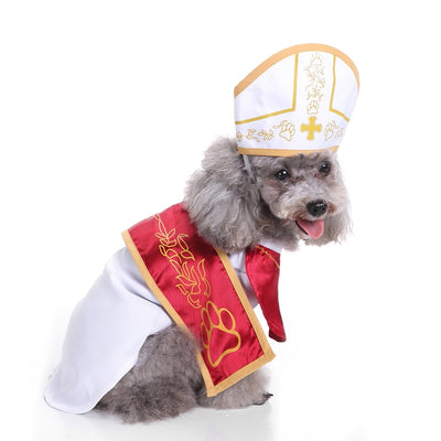 Priest Halloween Dog Costume