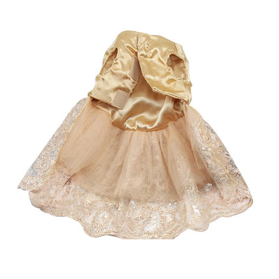 Wedding Lace Dress - Pet Bargain Supplies