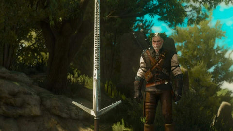Aerondight Witcher 3 the Wild hunt silver sword