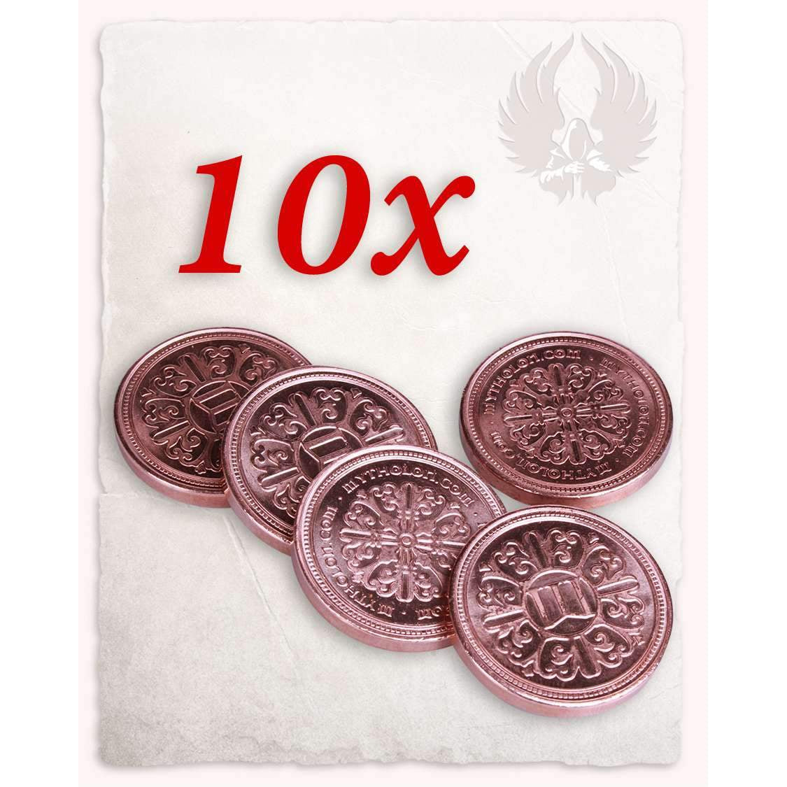 Larp coin copper set of 10