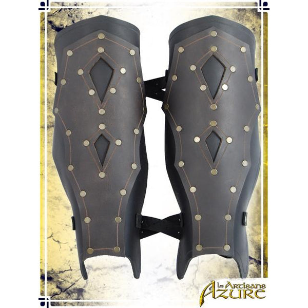 Mercenary's Greaves - Black/Brown