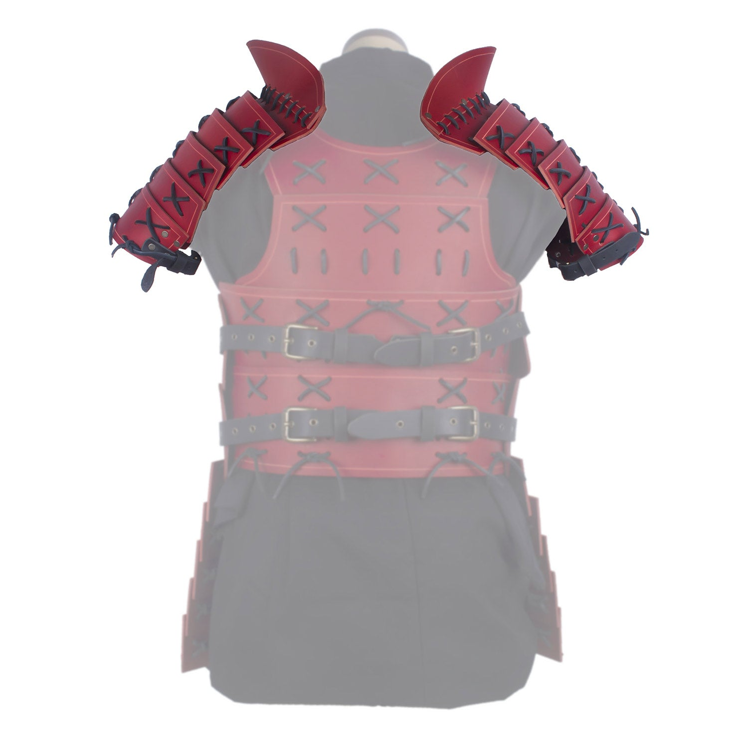 Samurai Pauldrons - Red/Black
