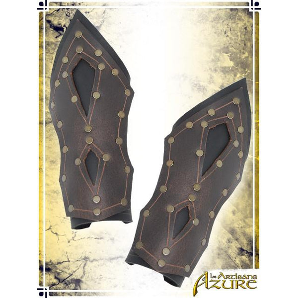 Mercenary's Bracers - Black/Brown