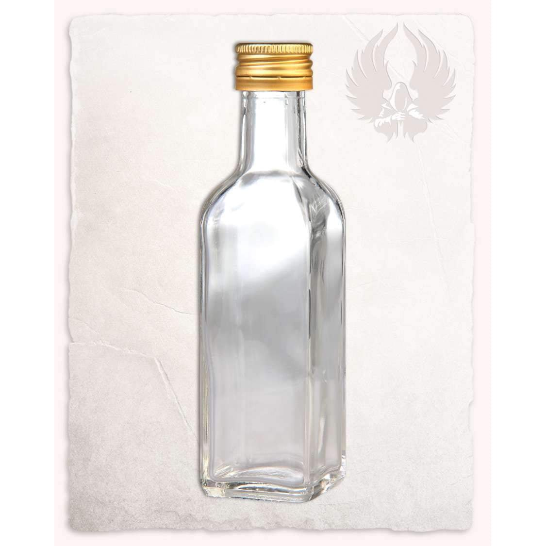 Bottle 5 angeled with screw cap 100ml
