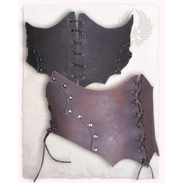 Maren leather bodice