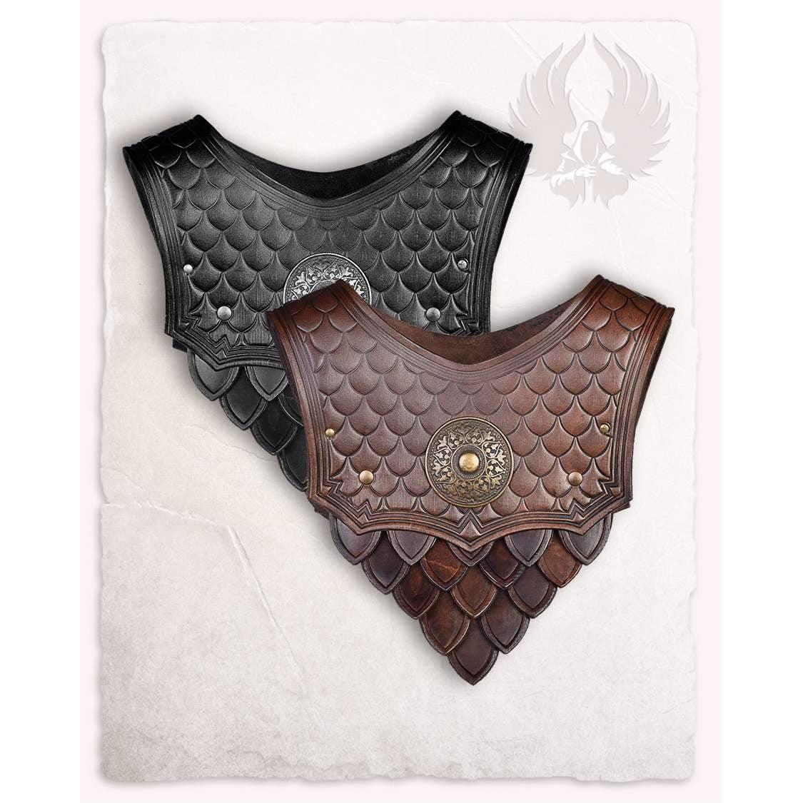 Hektor leather gorget
