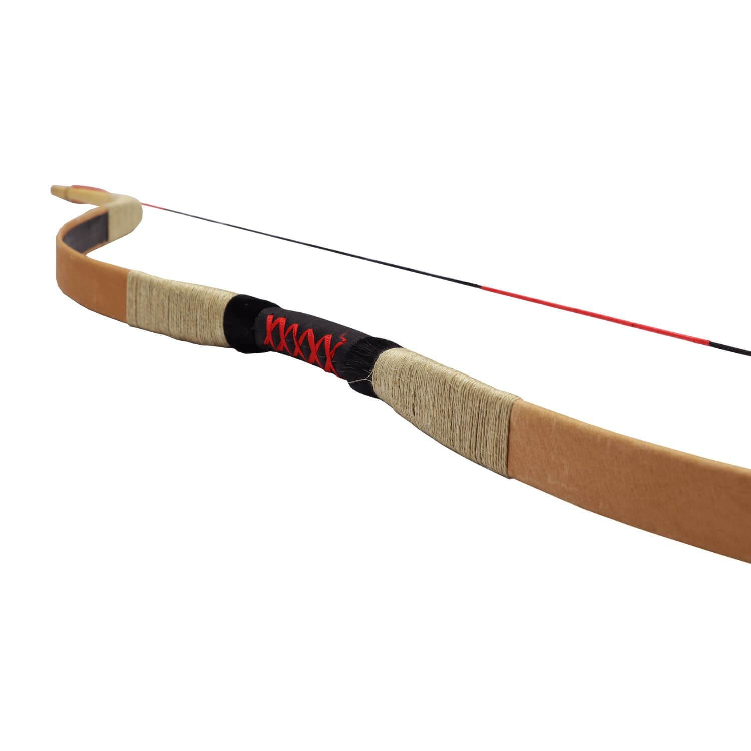 Traditional recurved bow and Lowspeed arrow