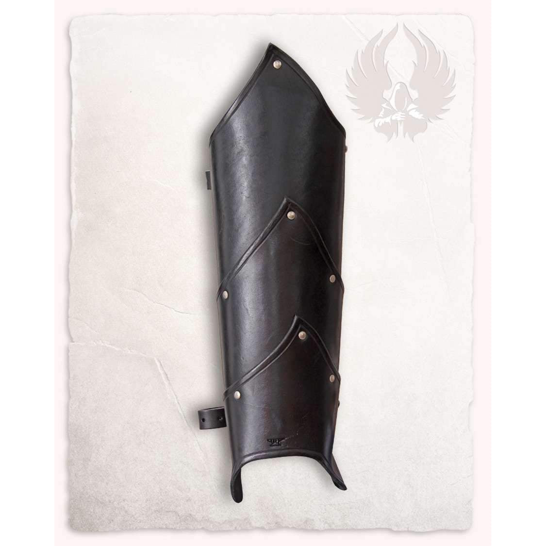 Alistair leather greaves