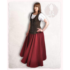Caty leather bodice