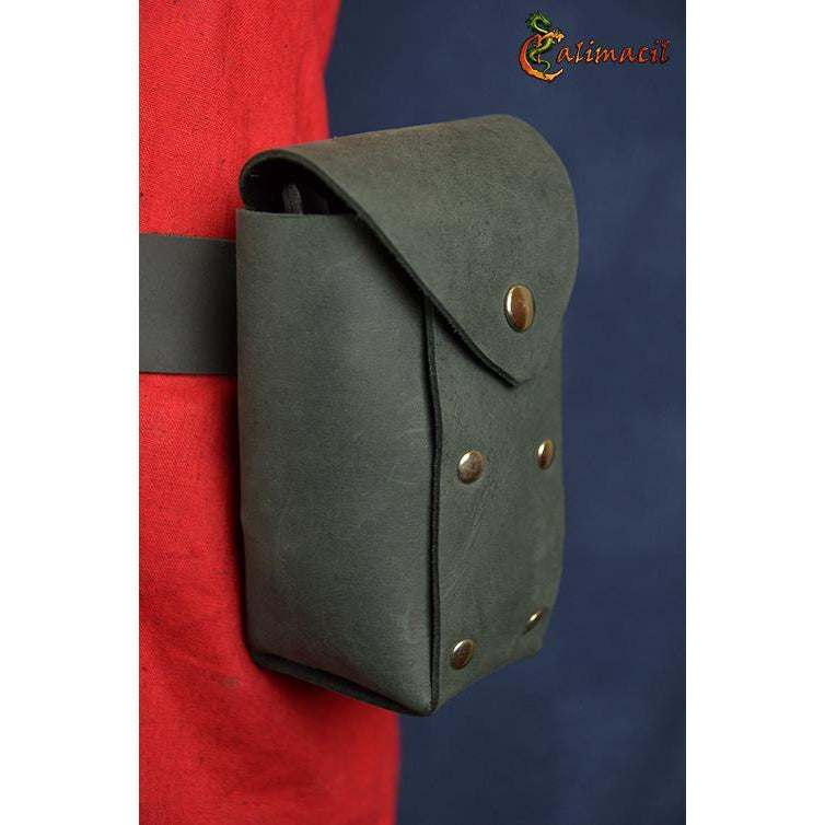 Leather can holder (Brown)