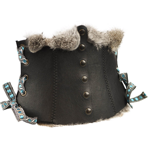 d892e91687 Long Corset Belt Viking with fur