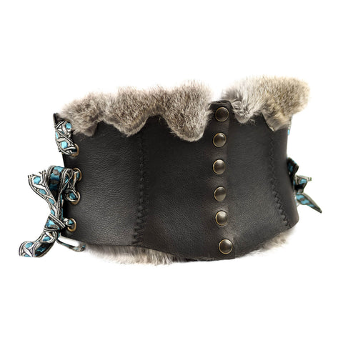 7d94336c64 Short Corset Belt Viking with fur