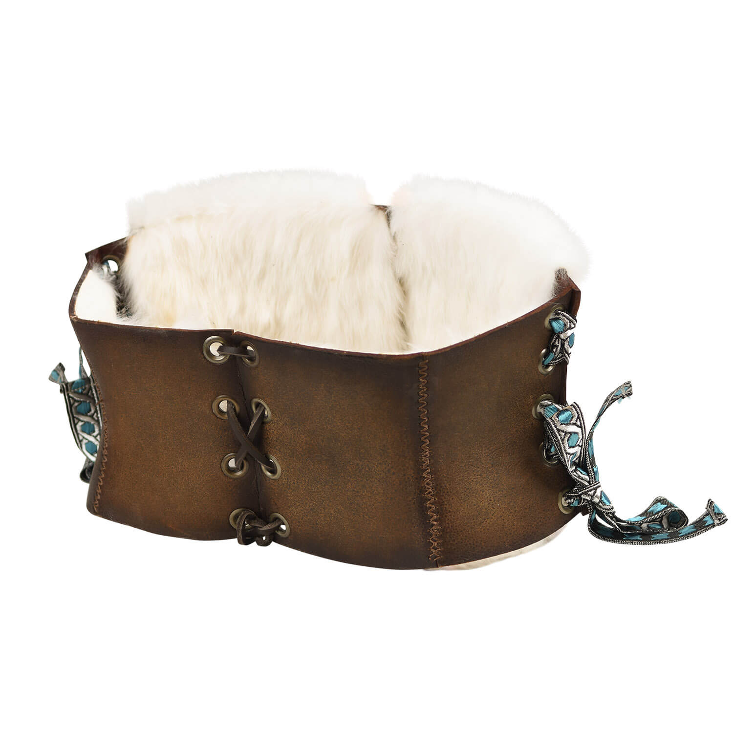 Short Corset Belt Viking with fur