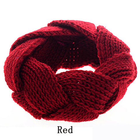 Image of Twist Knitted Headband for Women