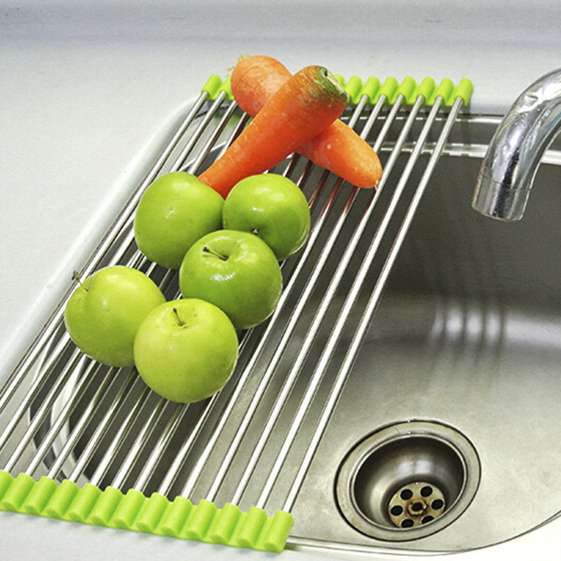 Multi-Purpose Roll-Up Dish and Vegetable Drying Rack
