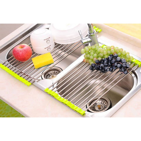 Image of Multi-Purpose Roll-Up Dish and Vegetable Drying Rack