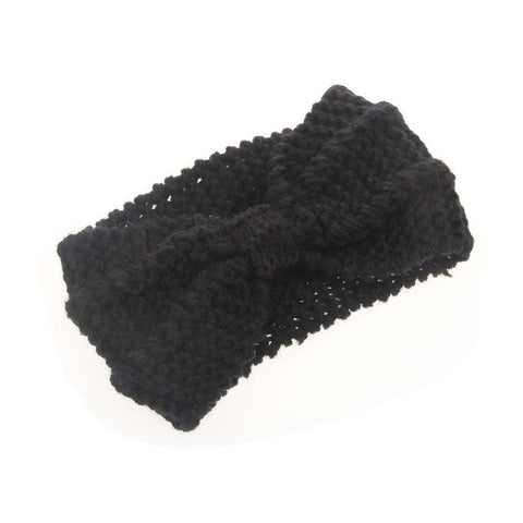 Image of Women's Knitted Bow Headband