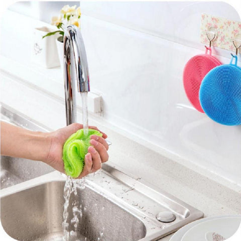 Image of Multi-Purpose Silicone Cleaning Dish Washing Sponge