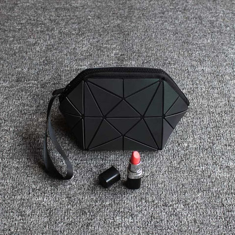 Luminous Geometric Folding Cosmetic Make Up Bag