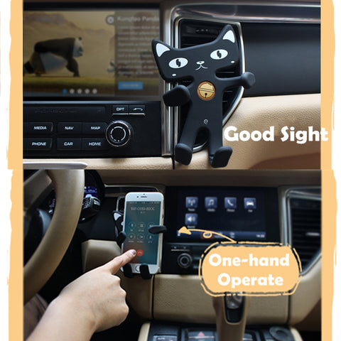 Universal Cat Air Vent Car Phone Holder