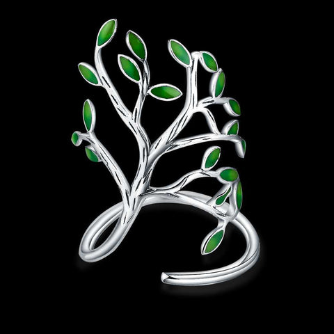 Image of Stunning Sterling Silver Ornate Tree Ring