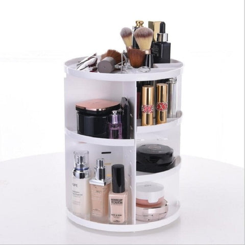 Image of 360-Degree Rotating Makeup Organizer