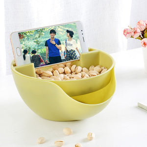 Multi-functional Double Layer Candy Snacks & Nuts Container