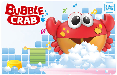 Image of Crab Bubble Machine Bath Toy