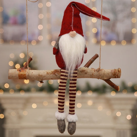 Long-Legged Christmas Decorations Elf