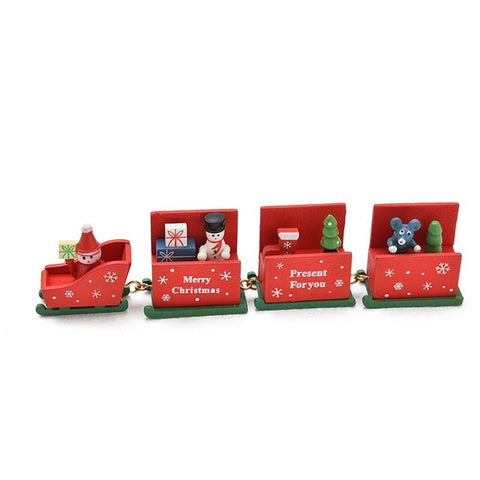 Image of Wooden Christmas Train