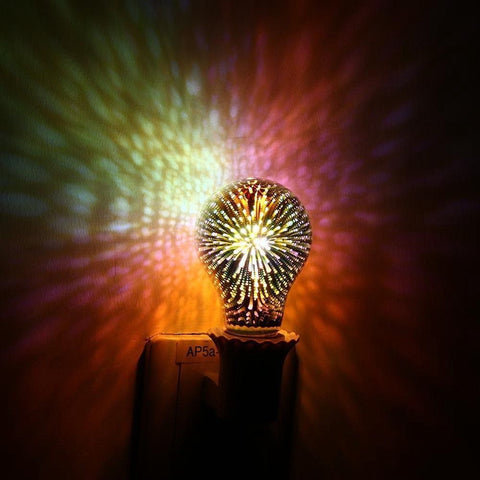 3D Stars LED Fireworks Effect Night Light