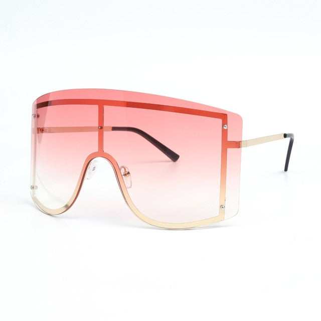 Oversized Rimless Gradient Sunglasses