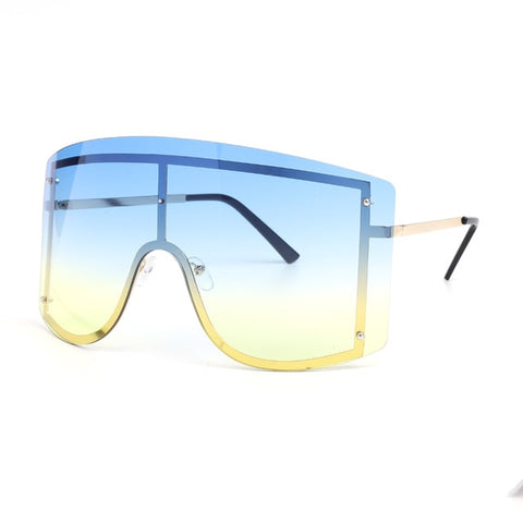 Image of Oversized Rimless Gradient Sunglasses