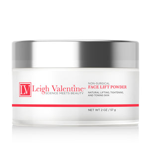 Leigh Valentine Skin Care - Duo Refill Mask for Non Surgical Face Lift - Powder and Activator  Includes Beauty Application Brush