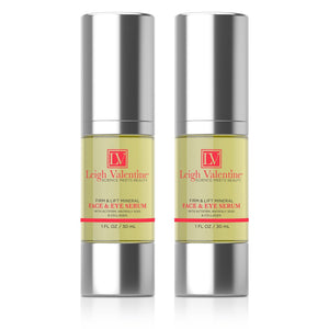Leigh Valentine Firm & Lift Mineral Face & Eye Serum Twin Pack