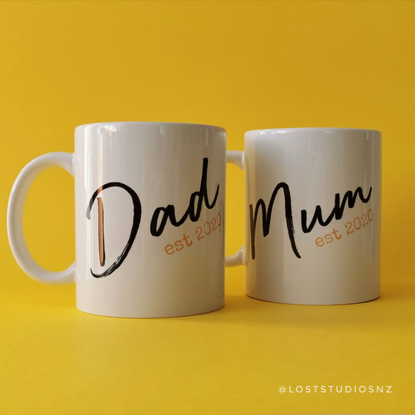 Mum and Dad Est Mug