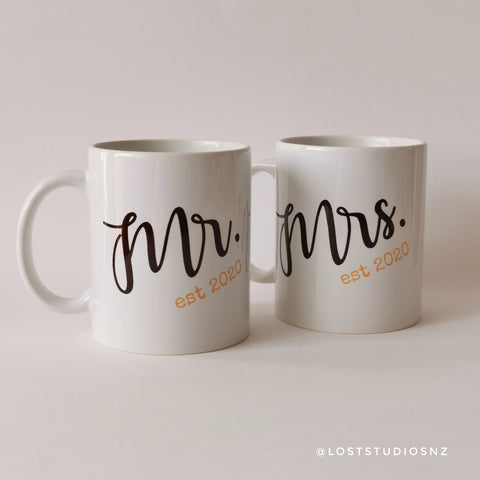 Mr + Mrs Mugs