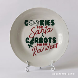 Cookies for Santa Plate | Green & Red