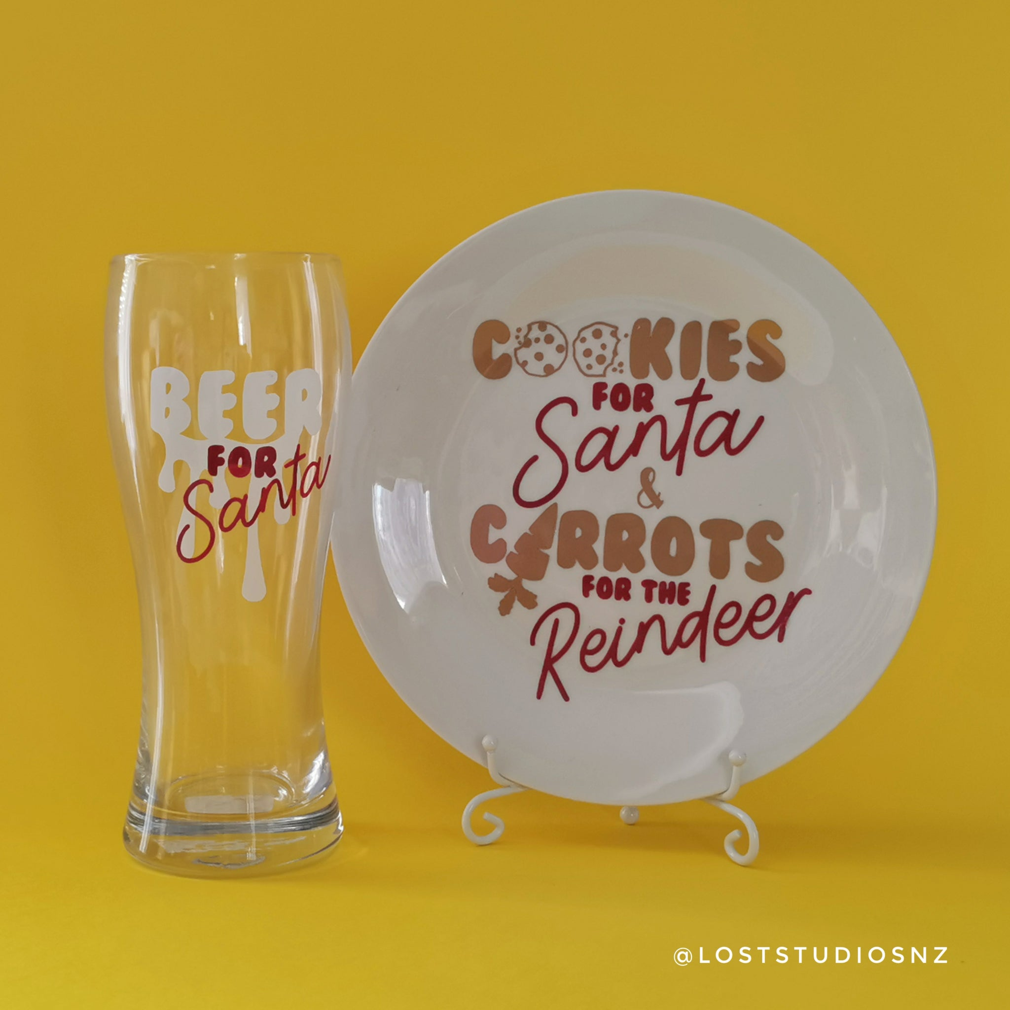 Santa's Cookie Plate & Beer Pilsner Set