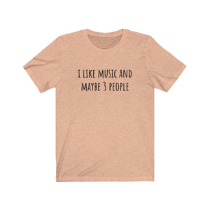 I Like Music And Maybe 3 People T-Shirt