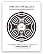 Comfort Zone Printable Tracker Worksheet - Printable Coloring Book Bullet Journal Tracker - 8/11 Digital Download